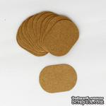 """Тег """"Овал"""" из крафт-картона, 5,5х4 см, 1 шт. - ScrapUA.com"""