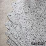 Тутовая бумага, цвет белый с вкраплениями под мрамор - ScrapUA.com