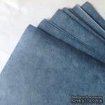 Тутовая бумага ручной работы, цвет синий, формат А4 - ScrapUA.com