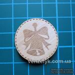 Деревянное украшение от Вензелик - Круглячок 01 - ScrapUA.com