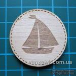 Деревянное украшение от Вензелик - Круглячок 06 - ScrapUA.com