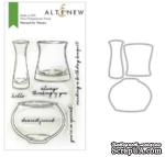 Штампы + Ножи для вырубки от Altenew - Versatile Vases Stamp & Die Bundle, 8 штампов + 3 ножа - ScrapUA.com