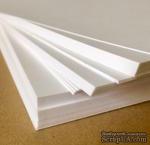 """Лист картона, белый, 300 г/м, американский формат, 8,5""""х11"""" - ScrapUA.com"""
