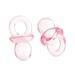 """Акриловая подвеска """"Соска"""", цвет розовый, 21.0мм x 12.0мм, 1 шт. - ScrapUA.com"""