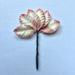 Набор бумажных листьев розы, цвет - 2-тоновый белый/розовый, 35 мм, 10 шт - ScrapUA.com