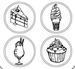 Деревянные фишки с гравировкой №4 от ScrapBerry's - Готовим Дома - ScrapUA.com