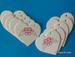 Набор белых тэгов в форме сердечек с ангелочками, 10 шт.: 65х60мм, цвет красный - ScrapUA.com