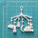 Пластиковое украшение Детская каруселька, 1 шт. от Е.В.A, 6,8х7см - ScrapUA.com