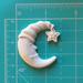 """Гипсовое украшение """"Месяц"""" белое от Е.В.A, 4х3,5 см, 1 шт. - ScrapUA.com"""