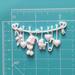 Пластиковое украшение от Е.В.A - Детская бельевая веревочка, 6x3,5см - ScrapUA.com
