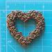 Гипсовое сердце из цветов под античное золото от Е.В.A, 5,7х5 см 1 шт. - ScrapUA.com
