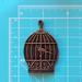"""Пластиковое украшение """"Птичка в клетке"""" под античное золото от Е.В.A, 5,5х3,7см, 1 шт. - ScrapUA.com"""
