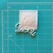 """Пластиковое украшение """"УЗИ"""" белое от Е.В.A, 3х3,3 см, 1 шт. - ScrapUA.com"""