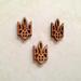 Деревянная фигурка WOOD-035 - Тризуб маленький, 1 штука - ScrapUA.com