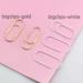 Скрепки большие для органайзеров, цвет на выбор, размер 50ммx20мм, 5 шт. - ScrapUA.com