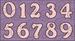 Цифры и надписи