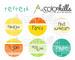 Набор бумаги, фишек и штампов от Color Hills - Коллекция Refresh, 14 элементов - ScrapUA.com